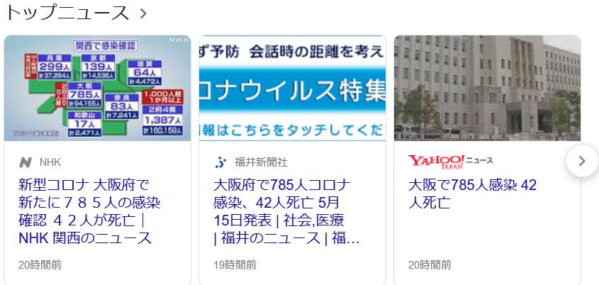 大阪のコロナ210516